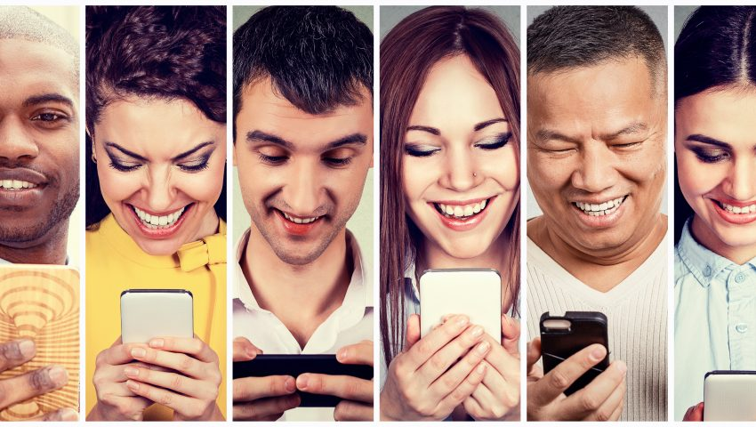 People using Mobile Learning app